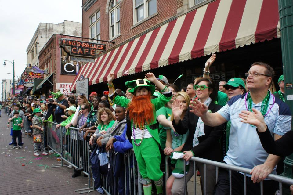 Crowd Shot at Beale Street St. Patrick's Day Parade