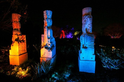Lit sculptures